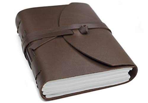 ENYA Handmade Leather Journal, 100% Cotton Pages (15 cm x 20 cm) from Life Arts