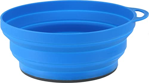 Lifeventure Unisex's Silicone Ellipse FlexiBowl (Blue) Camping bowl, One Size from Lifeventure