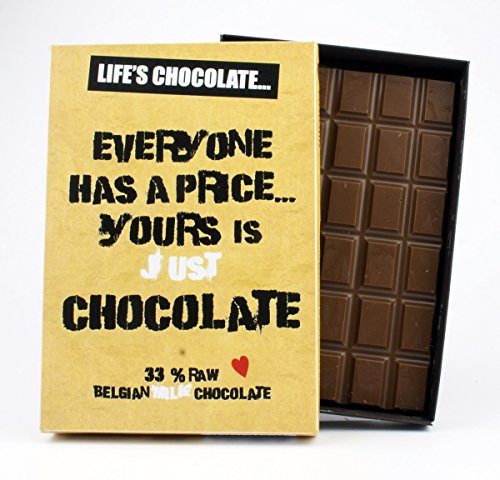 Everyone Has a Price 85 Gram Best Life's Chocolate Boxed Gift Bar Box of Chocolates for Women for Friend Friendship Birthday Girlfriend Women Funny Greeting Card Style Humour for Him or Her from Life's Chocolate