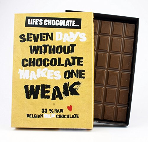 Funny Birthday Gifts Silly Inspirational Quotes Rude Presents for Men Women Chocolate Lovers Cards for Friends Chocoholics Oncocoa 85 Gram Boxed Greeting LC105 from Oncocoa