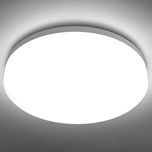 LE 15W LED Ceiling Lights, Waterproof IP54, 22cm, Daylight White 5000K, 1250lm, 100W Incandescent Bulb Replacement, Non-dimmable, Lighting for Bathroom, Kitchen, Hallway, Flush Ceiling Lights from Lighting EVER