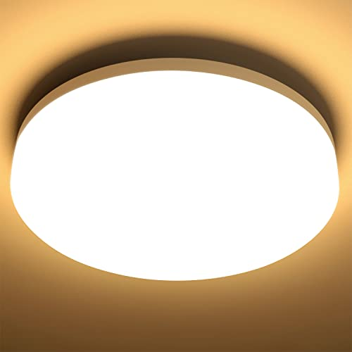 LE 15W LED Ceiling Lights, Waterproof IP44, 22cm, Warm White 3000K, 1250lm, 100W Incandescent Bulb Replacement, Non-dimmable, Flush Mount Lighting for Bathroom, Kitchen, Hallway from Lighting EVER