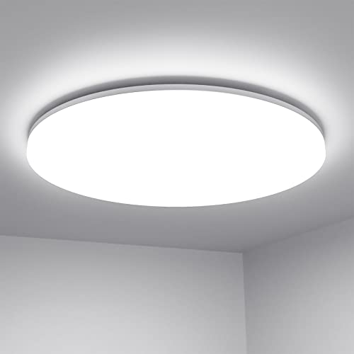 LE 24W LED Ceiling Light, IP54 Waterproof, Daylight White 5000K, 2400lm Bright Flush Ceiling Light for Bathroom, Kitchen, Hallway, Outside Porch and More from Lighting EVER