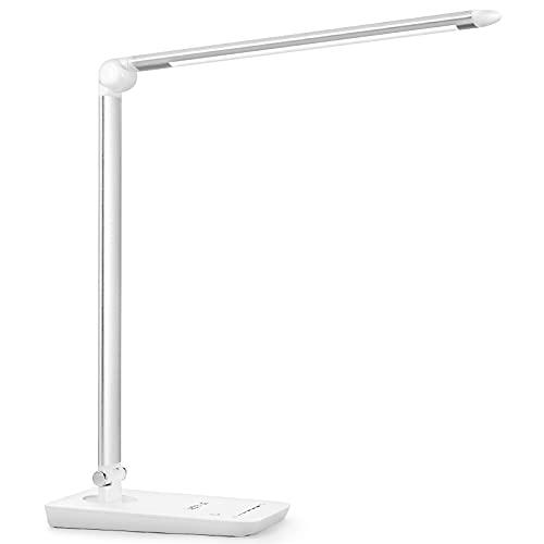 LE LED Desk Lamp Dimmable, 7-Level Dimmer Table Lamp , Eye-care, Touch Sensitive Control Folding Office Bedroom Reading Lights,White, 8W from Lighting EVER