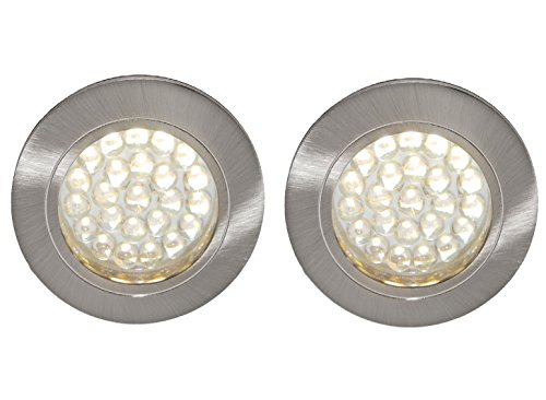 2 X 12V LED RECESSED DOWNLIGHT CAMPERVAN CARAVAN MOTORHOME LIGHT WARM WHITE from Lighting Innovations
