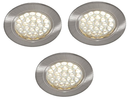 3 X 12V LED RECESSED DOWNLIGHT CAMPERVAN CARAVAN MOTORHOME LIGHT WARM WHITE from Lighting Innovations