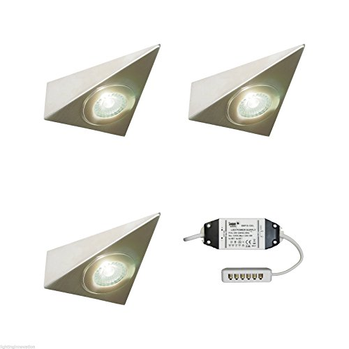 3 X KITCHEN UNDER CABINET CUPBOARD LED TRIANGLE LIGHT KIT POLARIS - VERY BRIGHT from Lighting Innovations