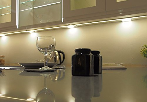 4 X SQUARE KITCHEN LIGHT SLIM FLAT PANEL UNDER CABINET CUPBOARD WARM WHITE LED from Lighting Innovations