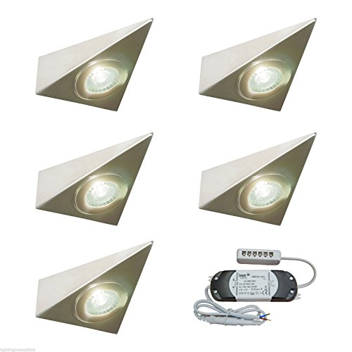 5 X KITCHEN UNDER CABINET CUPBOARD LED TRIANGLE LIGHT KIT POLARIS - VERY BRIGHT from Lighting Innovations