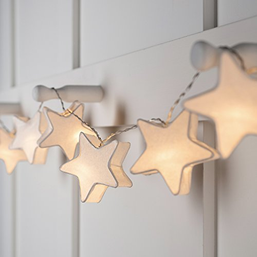 10 Paper Star Lantern Battery Operated LED Fairy Lights by Lights4fun from Lights4fun