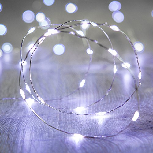 Lights4fun Battery Operated Fairy Lights with 20 Micro White LEDs on Silver Wire from Lights4fun