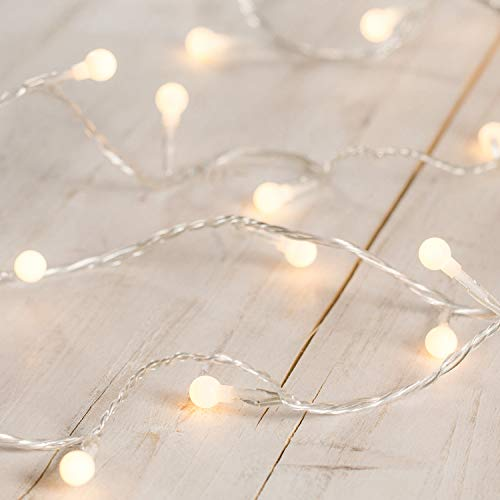 Indoor Berry Fairy Lights with 40 Warm White LEDs on Clear Cable by Lights4fun from Lights4fun