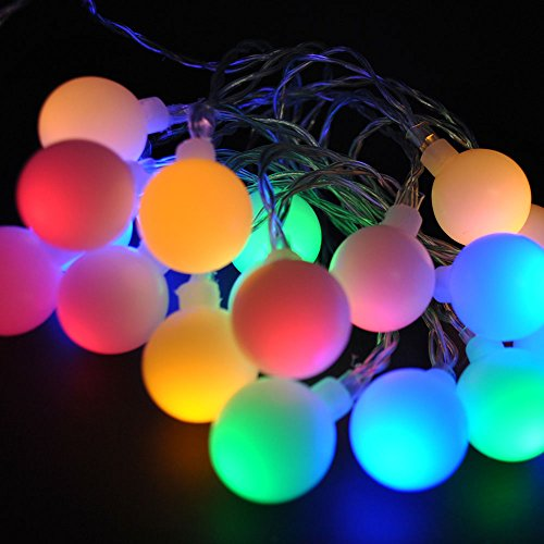 LightsGo® Kids SAFE Low Voltage Waterproof Berry Ball Christmas Fairy Lights 10M + 8M 100 LED Warm/Cool/Blue/Red Colour, Perfect for Christmas Tree, Party, Weddig (Multi Colours) from LightsGo