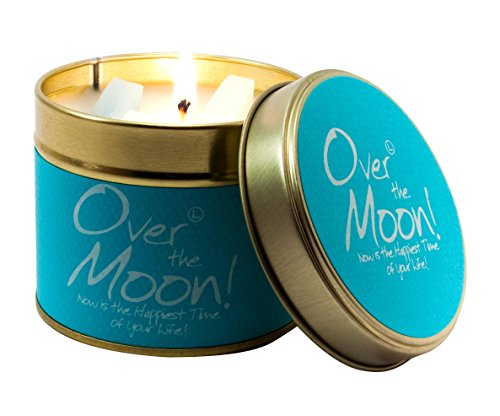 Lily Flame Over The Moon Tin, Blue, l x 7.7cm w x 6.6cm h from Lily Flame