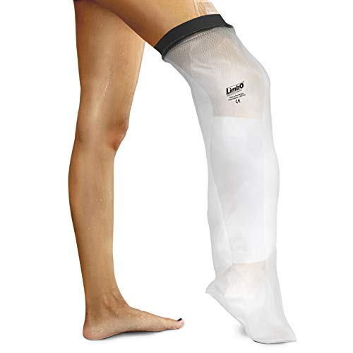 "LimbO Waterproof Protectors M80 Cast and Dressing Cover- Adult half leg (M80: 41-54 cm above knee circ. (5'5""–6'0)) from LimbO Waterproof Protectors"