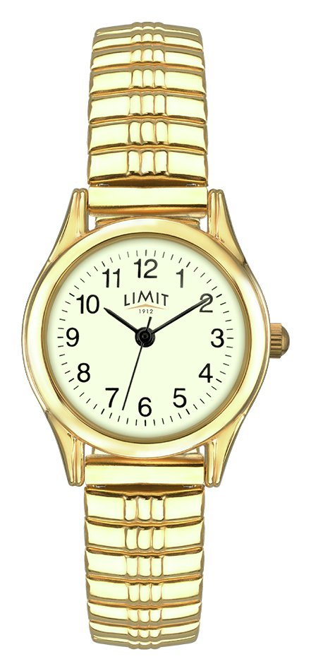 Limit - Ladies Gold Plated Glow Dial Expander - Watch from Limit
