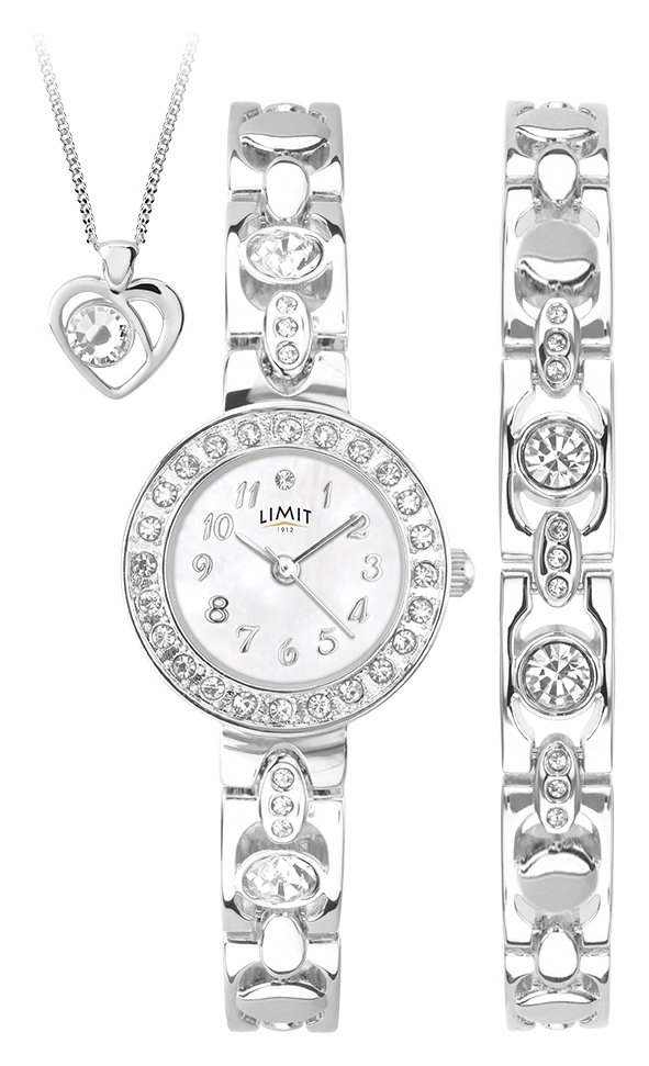 Limit - Ladies Silver Bracelet, Pendant and - Watch Set from Limit