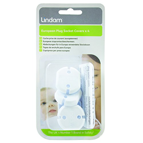 Lindam European Plug Socket Cover (Pack of 4) from Lindam