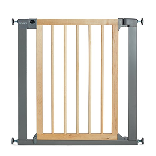 Lindam Sure Shut Deco Pressure Fit Safety Gate  - 76 - 82 cm (Wood and Metal) from Lindam