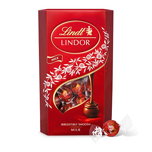 Lindt Lindor Milk Chocolate Truffles Box - approx. 48 Balls, 600 g - Perfect for Sharing and Gifting - Chocolate Balls with a Smooth Melting Filling from Lindt
