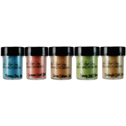 Lindy's Stamp Gang Embossing Powder 2-tone .5 oz. 5 kg-Mermaid Seashells from Lindy's Stamp Gang