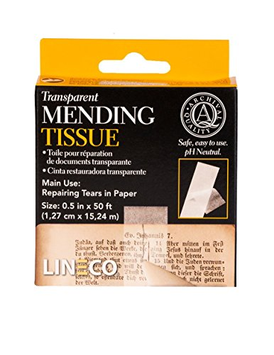 Transparent Mending Tissue 1/2x600in from Lineco