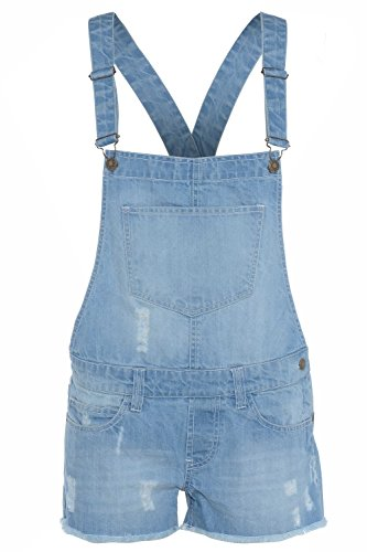Girls Dungaree 100% Cotton Kids Jeans Denim Shorts Dress Jumpsuits 7-8 Years from Linen Galaxy