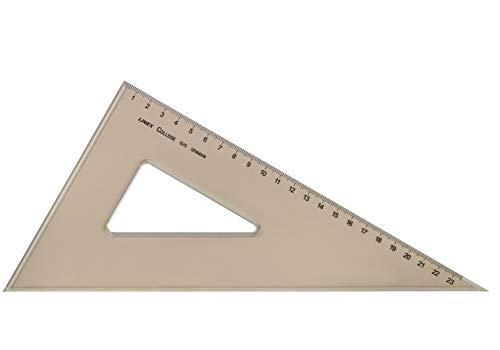Linex College Set Square 60 Degree Bevelled Edge Long 235mm Tinted Brown Ref LXO625 from Linex