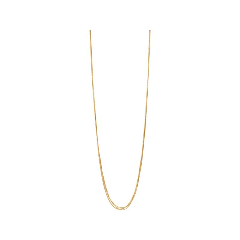 Ladies Links Of London Gold Plated Sterling Silver Essentials Silk 5 Row Necklace 80cm from Links Of London Jewellery