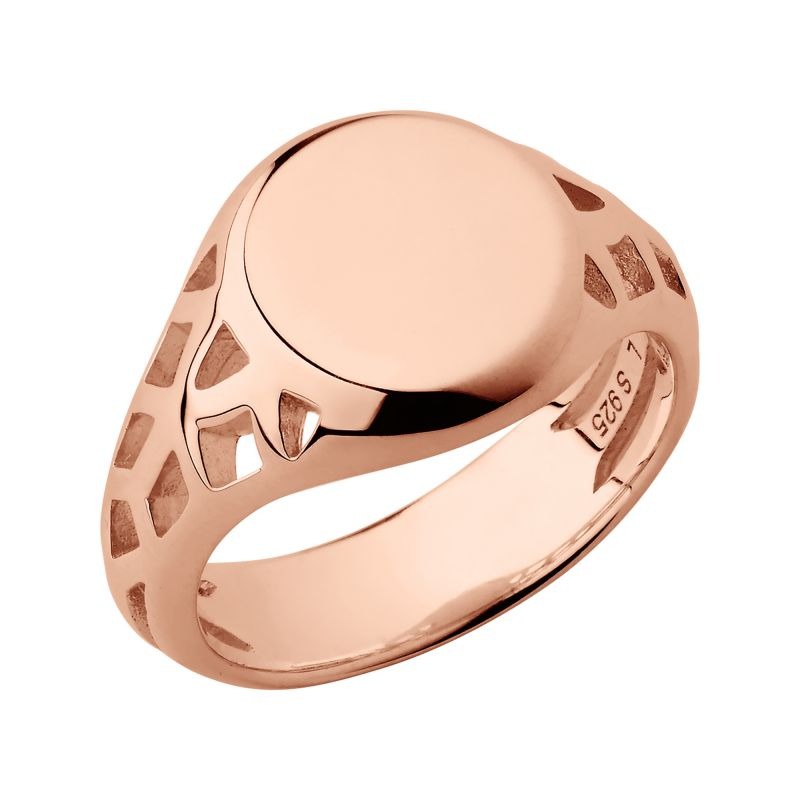 Ladies Links Of London Rose Gold Plated Sterling Silver Timeless Extension Ring Size L from Links Of London Jewellery