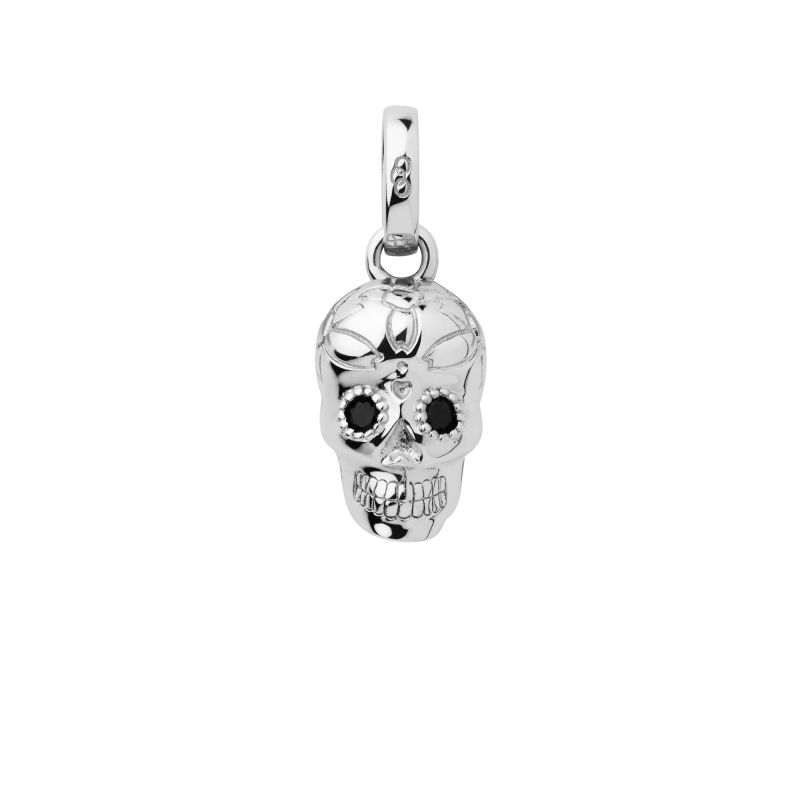 Ladies Links Of London Sterling Silver Halloween Keepsakes Black Spinel Skull Charm from Links Of London Jewellery