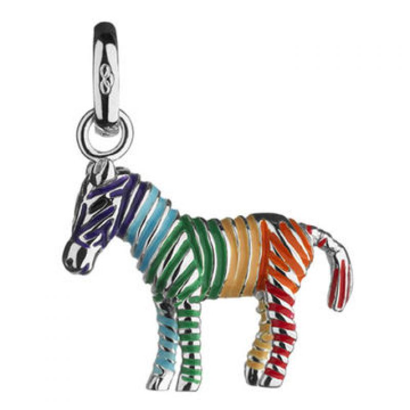 Ladies Links Of London Sterling Silver Keepsakes Rainbow Zebra Charm from Links Of London Jewellery