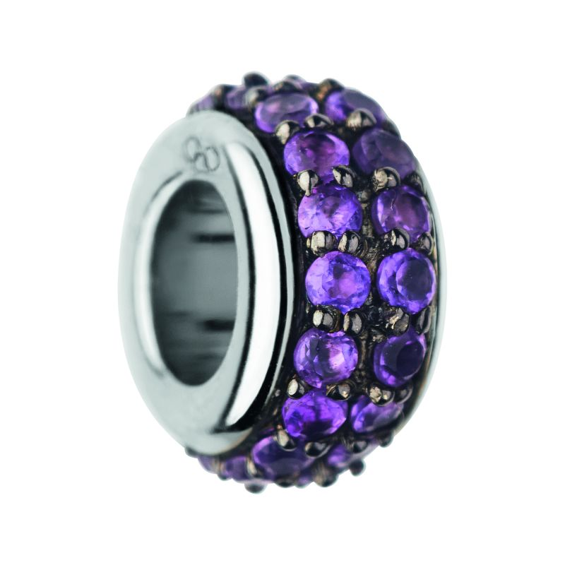 Ladies Links Of London Sterling Silver Pave Rondel Amethyst Pave Bead from Links Of London Jewellery