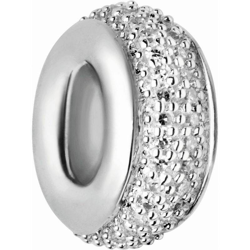Ladies Links Of London Sterling Silver Pave Rondel White Diamond Pave Bead from Links Of London Jewellery