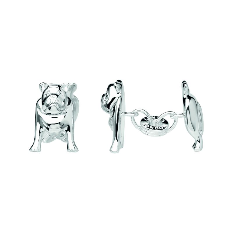 Mens Links Of London Sterling Silver British Bulldog Cufflinks from Links Of London Jewellery