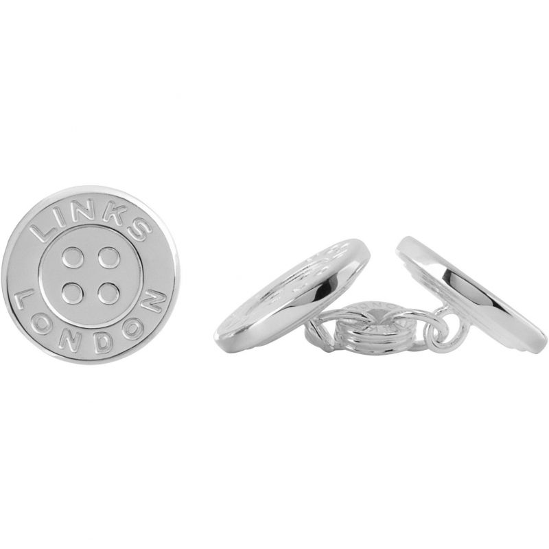 Mens Links Of London Sterling Silver Button Chainlink Cufflinks from Links Of London Jewellery