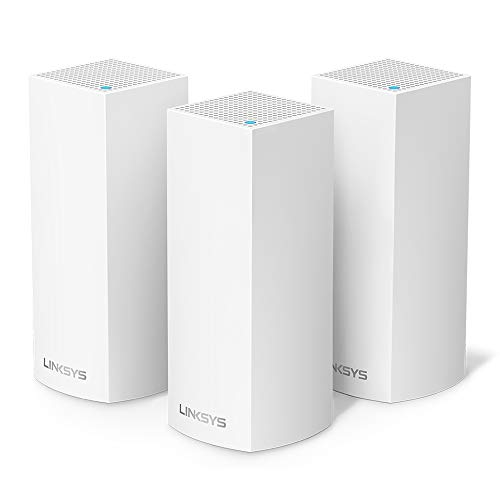 Linksys WHW0303-UK Velop Tri-Band Whole Home Mesh Wi-Fi System (Wi-Fi Router/Wi-Fi Extender for Whole-Home Mesh Network, AC6600, 3-Pack, Up to 6,000 sq ft Coverage, White) from Linksys