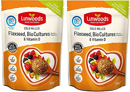 (2 Pack) - Linwoods - Flaxseed Probiotic & Vit D | 360g | 2 PACK BUNDLE from Linwoods