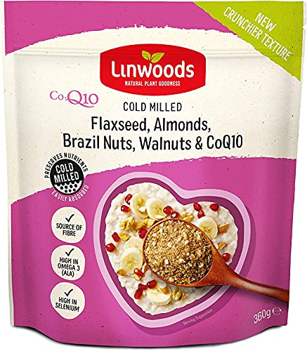 (Pack Of 6) - Organic Flaxseed, Almonds, Brazil Nuts, Walnuts, CoEnzymeQ10 | LINWOODS from Linwoods