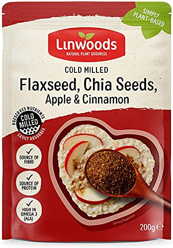 Linwoods Milled Flaxseed,Chia,Apple & Cinnamon 200g (Pack of 4) from Linwoods