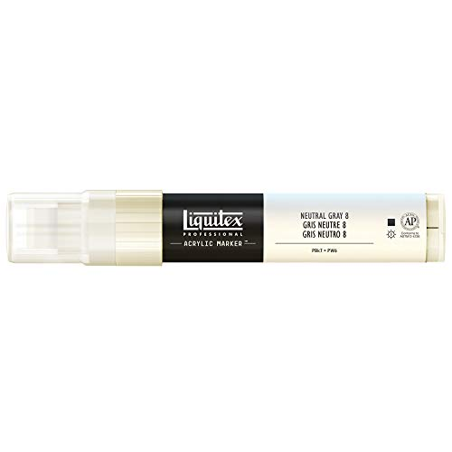 Liquitex Professional Paint Marker with 8-15 mm Wide Nib - Neutral Gray 8 from Liquitex