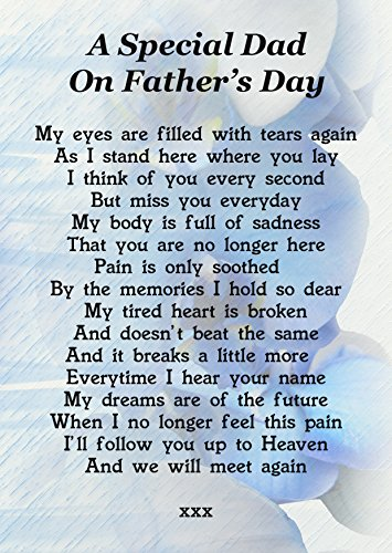 A Special Dad On Father's Day Memorial Graveside Poem Keepsake Card Includes Free Ground Stake F178 from Lisasgiftsforyou