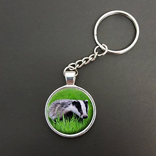 Personalised Badger Pendant On A Split Ring Keyring Ideal Birthday Gift N86w from Lisasgiftsforyou