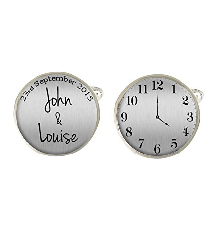 Personalised Marriage Date & Time Mens Cufflinks Ideal Wedding Day Gift C311 from Lisasgiftsforyou