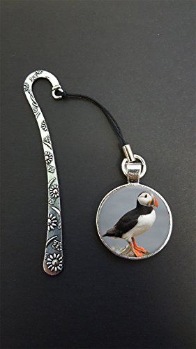 Puffin Pendant On a Metal Design Bookmark Ideal Birthday Gift N581 from Lisasgiftsforyou