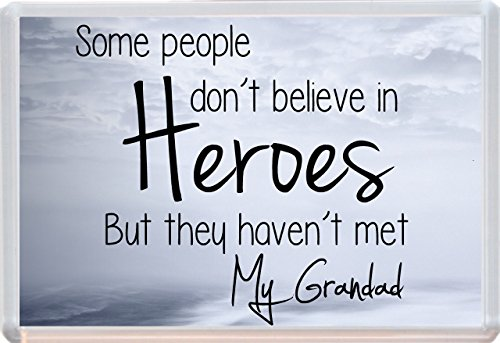 Some People Don't Believe In Heroes Grandad Jumbo Fridge Magnet Ideal Birthday Fathers Day Gift 754 from Lisasgiftsforyou