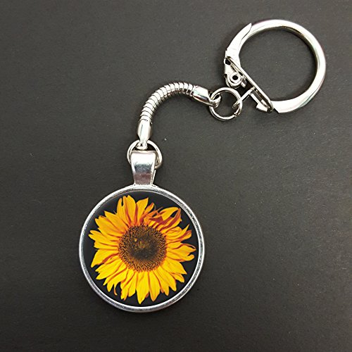 Sunflower Pendant On A Snake Keyring Ideal Birthday Gift N579 from Lisasgiftsforyou