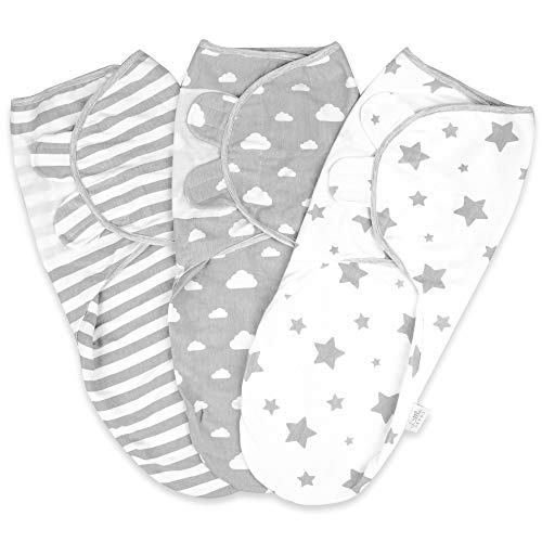 Baby Swaddle Wrap Newborn Blanket 0-3 Months | 100% Organic Cotton Swaddles from Little Seeds