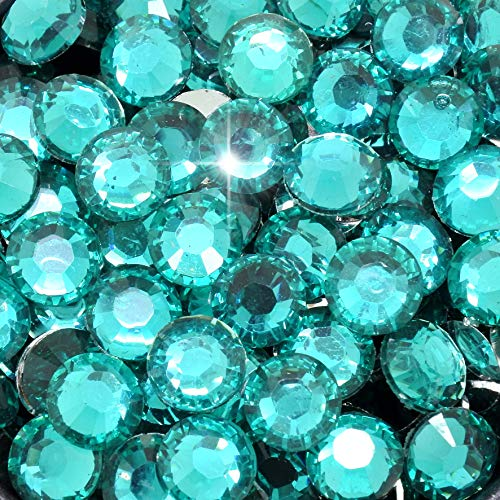 Little Snow Direct® Pack of 1000 Top Quality Resin Crystal Flat Back Rhinestones Diamante Gems Nail Art & Crafts (Teal, 6mm) from Little Snow Direct ®