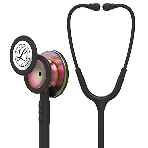 3M Littmann 5870 Classic III Stethoscope, Rainbow-Finish Chestpiece, 27 Inch, Black Tube from 3M Littmann